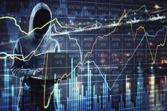 Concepto criminal y comercial ilustración del vector