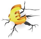 Concepto - crisis euro Imagen de archivo