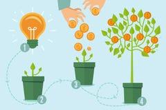 Concepto crowdfunding del vector en estilo plano stock de ilustración