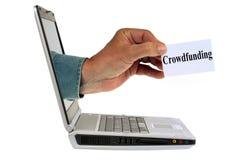 Concepto crowdfunding en línea imagenes de archivo