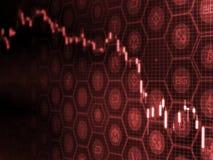 Concepto Crypto de la venta del pánico del mercado de moneda Exposición doble de la caída de precios digital de las monedas y de  ilustración del vector
