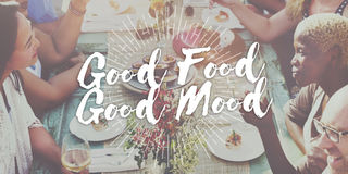 Concepto culinario de abastecimiento de la buena de la comida buena cocina gastrónoma del humor Foto de archivo