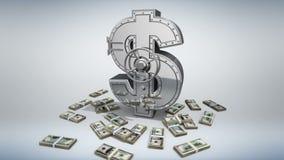 Concepto 3D del dinero ilustración del vector