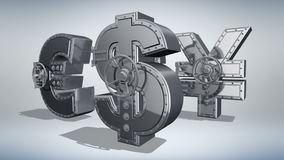 Concepto 3D del dinero libre illustration