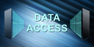 Concepto de acceso a datos stock de ilustración