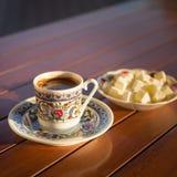 Concepto de accesorios del café turco Fotos de archivo