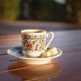 Concepto de accesorios del café turco Imágenes de archivo libres de regalías
