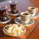 Concepto de accesorios turcos del té y del café Fotografía de archivo libre de regalías