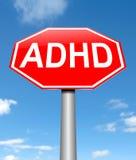 Concepto de ADHD Fotografía de archivo libre de regalías