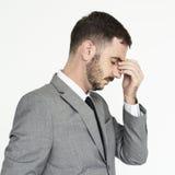 Concepto de Adult Portrait Occupation del hombre de negocios Fotografía de archivo libre de regalías