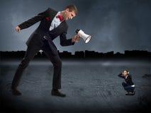 Concepto de agresión Fotografía de archivo libre de regalías