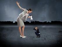 Concepto de agresión Foto de archivo libre de regalías