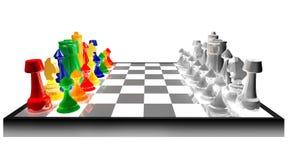 Concepto de ajedrez coloreado Imagenes de archivo