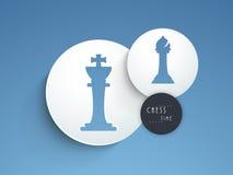 Concepto de ajedrez con sus figuras Fotos de archivo libres de regalías