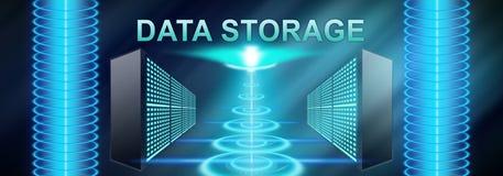 Concepto de almacenamiento de datos stock de ilustración