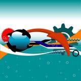 Concepto de alta tecnología libre illustration