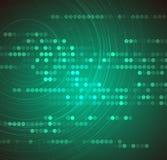 Concepto de alta tecnología de la informática del infinito del verde del eco Foto de archivo