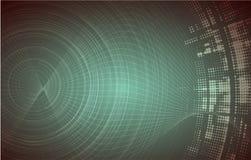 Concepto de alta tecnología de la informática del infinito del verde del eco Fotos de archivo