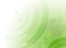 Concepto de alta tecnología de la informática del infinito del verde del eco Imágenes de archivo libres de regalías
