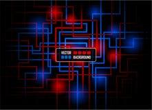 Concepto de alta tecnología del vector contra fondo oscuro Imágenes de archivo libres de regalías
