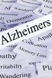 Concepto de Alzheimers Imagenes de archivo