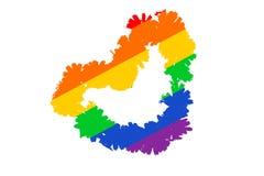 Concepto de amor de LGBT corazón colorido del arco iris abstracto Arte Aislado en el fondo blanco foto de archivo libre de regalías