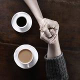 Concepto de amor y de café imagen de archivo