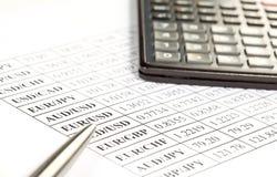 Concepto de análisis financiero Foto de archivo libre de regalías