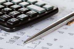 Concepto de análisis financiero Imágenes de archivo libres de regalías