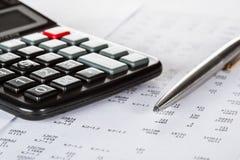 Concepto de análisis financiero Imagenes de archivo