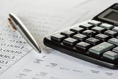 Concepto de análisis financiero Fotografía de archivo