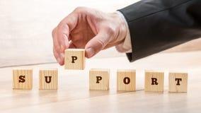 Concepto de apoyo a empresas y de servicio de atención al cliente Fotografía de archivo libre de regalías