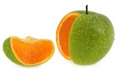 Concepto de Apple con pulpa anaranjada fotos de archivo libres de regalías