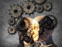 Concepto de aprendizaje de máquina mejorar la inteligencia artificial foto de archivo libre de regalías