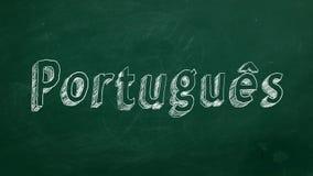 Concepto de aprendizaje portugués