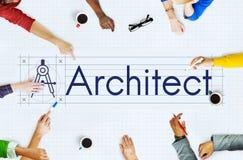 Concepto de Architecture Compass Construction del arquitecto Fotografía de archivo