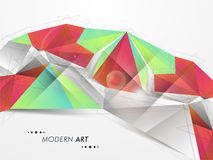 Concepto de arte moderno para el objetivo comercial Imagen de archivo
