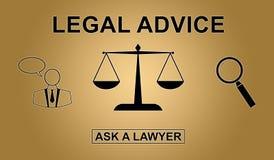 Concepto de asesoramiento jurídico Foto de archivo