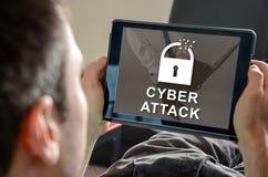 Concepto de ataque cibernético fotografía de archivo