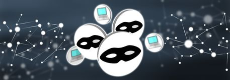 Concepto de ataque cibern?tico imágenes de archivo libres de regalías