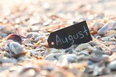 Concepto de August Travel Imágenes de archivo libres de regalías