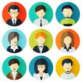 Concepto de avatares del negocio Imagen de archivo libre de regalías