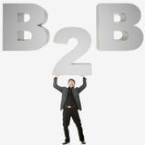 Concepto de B2B Imagen de archivo libre de regalías