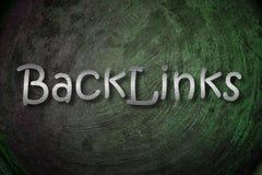 Concepto de BackLinks imagen de archivo libre de regalías