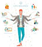 Concepto de balanza del trabajo y de la vida Foto de archivo libre de regalías