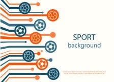 Concepto de bandera del web Fondo del deporte Imagen de archivo libre de regalías
