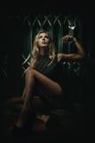 Concepto de BDSM y de esclavitud Imagen de archivo libre de regalías