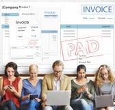 Concepto de Bill Paid Payment Financial Account de la factura Imagen de archivo