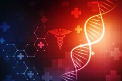 Concepto de bioquímica con la estructura de la DNA en fondo médico libre illustration