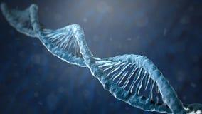 Concepto de bioquímica con la molécula de la DNA ilustración del vector